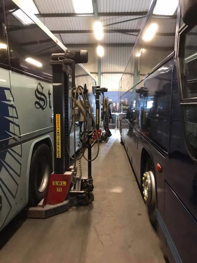 Servicing & Repairs Coach on Ramp