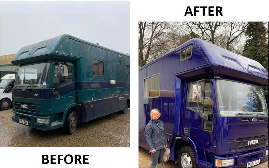 Horsebox Repairs Surrey Sussex And Kent Bodywork Repairs And Respray Before & After